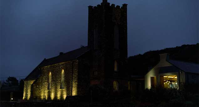 Sea Church exterior image at night
