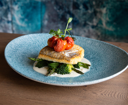 Pan Roasted fillet of hake Dish at the SeaChurch restaurant Ballycotton