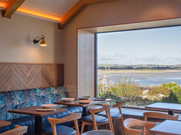 Seaview in SeaChurch Restaurant, Ballycotton, Co. Cork.