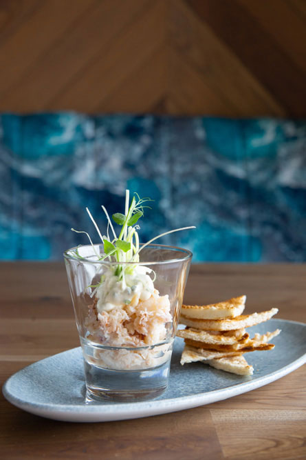 Verrine of Crab at Sea Church Restaurant, Ballycotton, Cork.