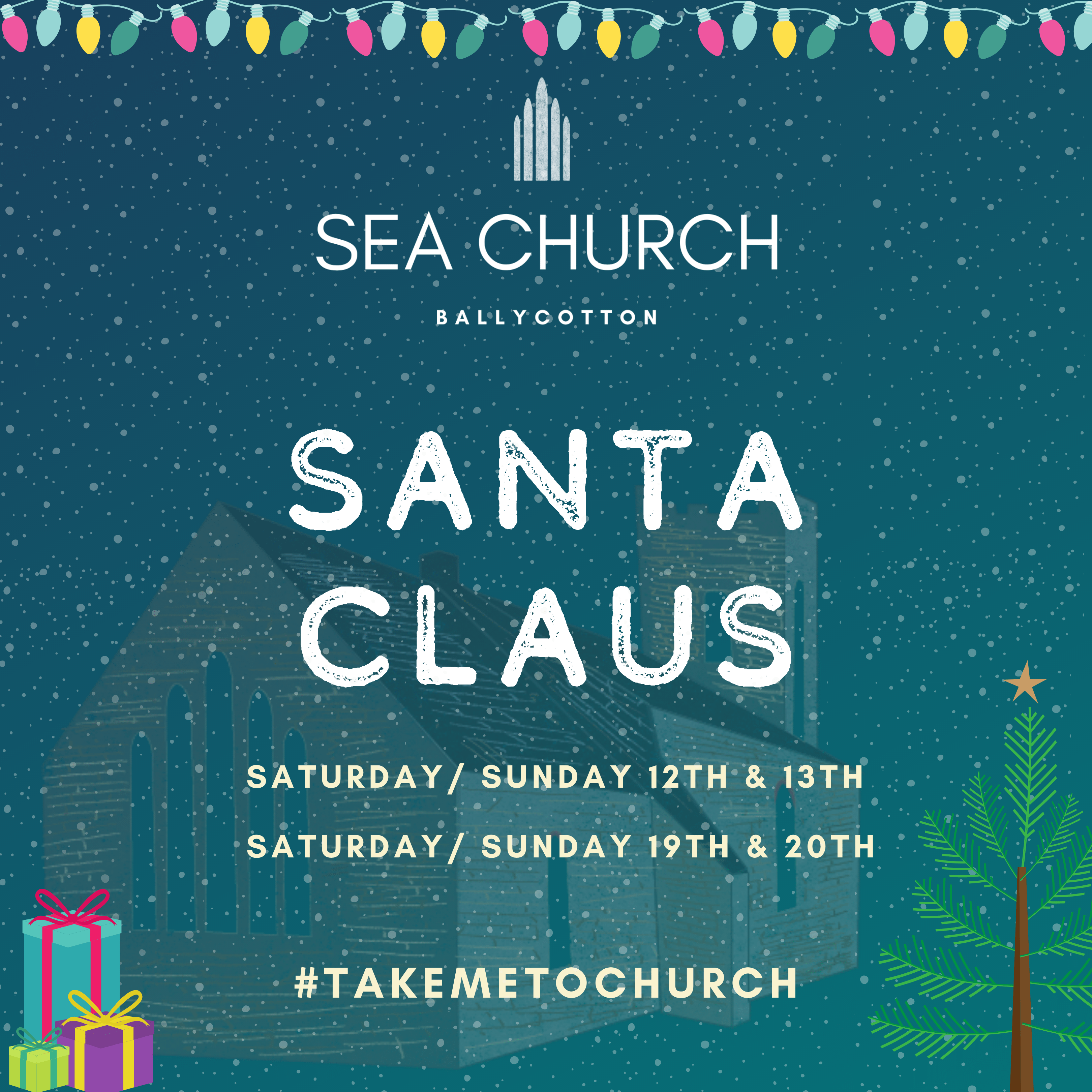 Visit Santa in our Winter Wonderland at Sea Church Ballycotton
